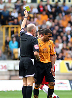 Photo: Mark Stephenson.<br /> Wolverhampton Wanderers v Norwich City. Coca Cola Championship. 22/09/2007.Wolve's Karl Hendry gets a yellow card