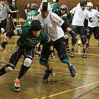 """Manchester Roller Derby's """"New Wheeled Order"""" take on an All Star """"Boy Division"""" 2014-11-22"""