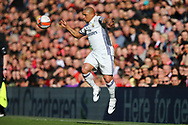 Roberto Carlos of Real Madrid legends team in action. Liverpool Legends  v Real Madrid Legends, Charity match for the LFC Foundation at the Anfield stadium in Liverpool, Merseyside on Saturday 25th March 2017.<br /> pic by Chris Stading, Andrew Orchard sports photography.
