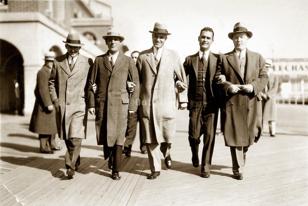 vintage image of group smiling businessmen