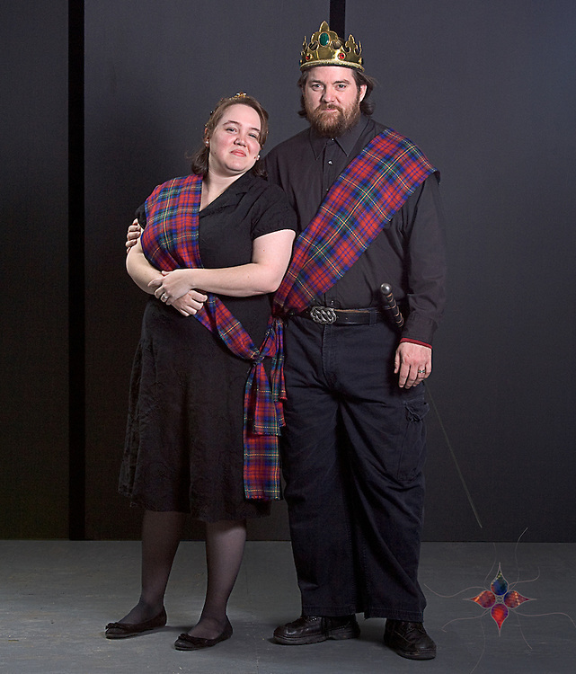 Performers for the Seat of Our Pants Players perform the Shakespeare classic MacBeth. The play is enacted at the SODO Theatre in New Holland, PA. The play is directed by Curtis L. Duke.
