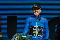 Floortje Mackaij earns the top young rider jersey in the Women's WorldTour after the second race in the series - Ronde van Drenthe 2016, a 138km road race starting and finishing in Hoogeveen, on March 12, 2016 in Drenthe, Netherlands.- Ronde van Drenthe 2016, a 138km road race starting and finishing in Hoogeveen, on March 12, 2016 in Drenthe, Netherlands.