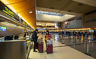 5:20pm 3/13/2020 <br /> Inside the Tom Bradley International Terminal at LAX. Some international travel was halted by the Trump administration due to coronavirus fears.
