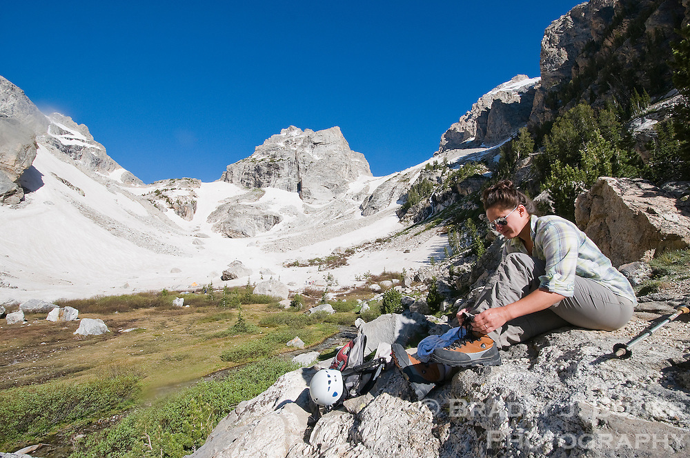 The Meadows area of Garnet Canyon in Grand Teton National Park is both a starting point for climbing the surrounding peaks or a day hike for those seeking a less-agressive outing.