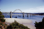 CS00050-03. Yaquina Bay Bridge, Newport, South Shore ca. 1952-1955