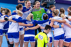 14-12-2018 FRA: Women European Handball Championships Russia - Romania, Paris<br /> First semi final Russia - Romania 28 - 22 / Russia celebrate