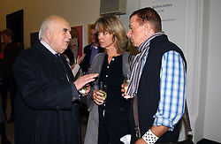Left to right, LORD WEIDENFELD, SABRINA GUINNESS and NICKY HASLAM at a party to celebrate the publication of 'You Are Here' by Rory Bremner, Juhn Bird and John Fortune held at the National Portrait Gallery, St.Martin's Place, London on 1st November 2004.<br />