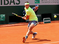 May 29, 2019 - Paris, France - Paris, France 29th May. Rafael Nadal (ESP) in action against Yannick Madden (GER) during the French Open Tennis at Stade Roland-Garros, Paris on Wednesday 29th May 2019. (Credit: Jon Bromley | MI News) (Credit Image: © Mi News/NurPhoto via ZUMA Press)