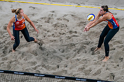 Emi van Driel, Mexime van Driel in action during the third day of the beach volleyball event King of the Court at Jaarbeursplein on September 11, 2020 in Utrecht.