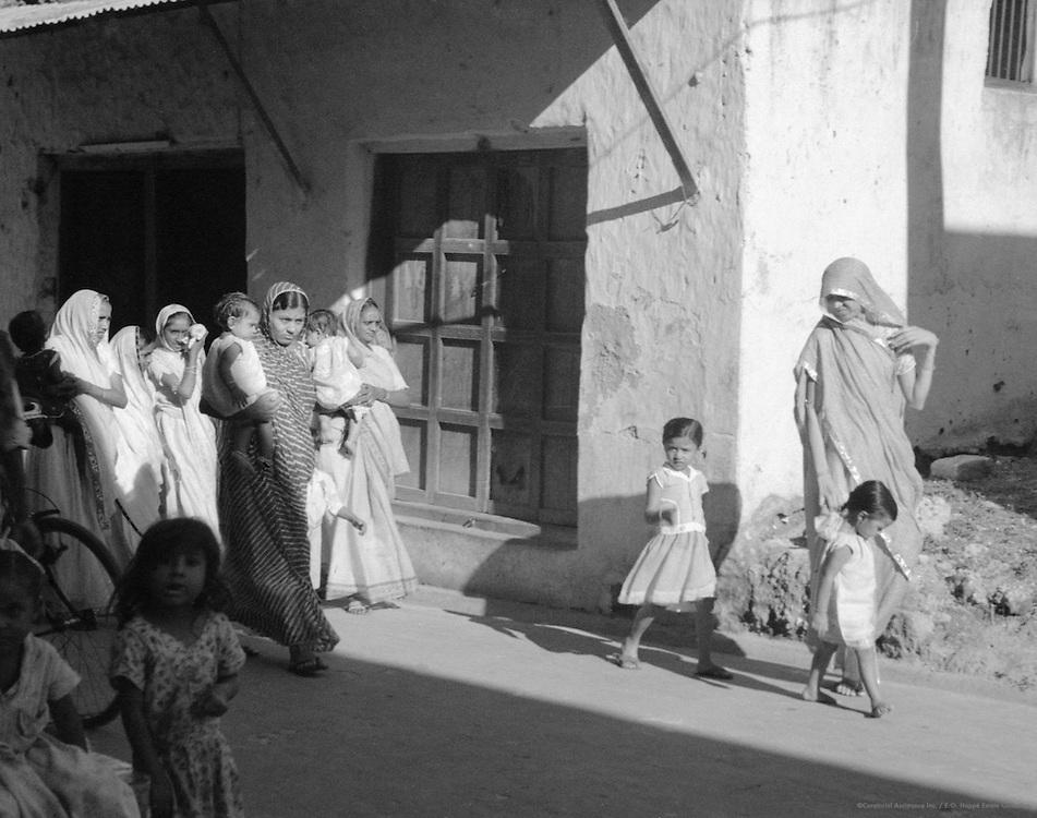 Indian Woman and Children, Mombasa, Kenya, Africa, 1937