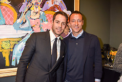 Left to right, Jamie Redknapp and John Terry at a private view of work by Bradley Theodore entitled 'The Second Coming' at the Maddox Gallery, 9 Maddox Street, London England. 19 April 2017.