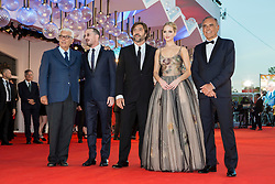 "Paolo Baratta (President of Biennale), Darren Aronofsky, Javier Bardem, Jennifer Lawrence, Alberto Barbera (chairman of the Mostra) arriving to the premiere of ""Mother"" as part of the 74th Venice International Film Festival (Mostra) in Venice, Italy on September 5, 2017. Photo by Marco Piovanotto/ABACAPRESS.COM"