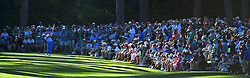 Rickie Fowler tees off on the 17th hole during the third round of the Masters Tournament at Augusta National Golf Club in Augusta, Ga., on Saturday, April 8, 2017. (Photo by Jeff Siner/Charlotte Observer/TNS) *** Please Use Credit from Credit Field ***