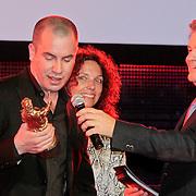 NLD/Amsterdam/20110328 - Uitreking Rembrandt Awards 2011, Jeroen van Koningsbrugge wint Award voor Beste Nederlandse Acteur