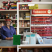 Allison, post master and shop keeper at the post office and shop in Stow, the Borders.
