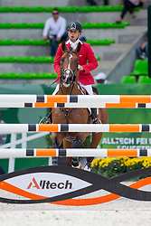 Alonso Valdez Prado, (PER), Ferrero Van Overis - Team & Individual Competition Jumping Speed - Alltech FEI World Equestrian Games™ 2014 - Normandy, France.<br /> © Hippo Foto Team - Leanjo De Koster<br /> 02-09-14
