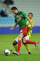 FOOTBALL - FRENCH CHAMPIONSHIP 2010/2011 - L2 - FC NANTES v CS SEDAN - 17/12/2010 - PHOTO PASCAL ALLEE / DPPI - ALEXIS ALLART (SEDAN) / WILLIAM VAINQUEUR (FCNA)