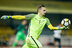 Grega Sorcan of Slovenia during football match between National teams of Slovenia and France in UEFA European Under-21 Championship Qualification, on November 13, 2017 in Domzale, Slovenia. Photo by Vid Ponikvar / Sportida