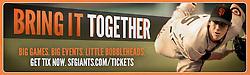 Ballpark banner, San Francisco Giants ad campaign, Baker Street Advertising, 2014