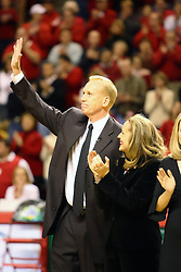 03 February 2007: Doug Collins and Mrs. Collins. In what is locally referred to as the War on Seventy Four, the Bradley Braves defeated the Illinois State University Redbirds 70-62 on Doug Collins Court inside Redbird Arena in Normal Illinois.