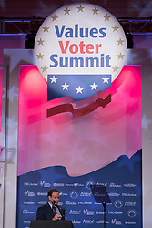 October 13, 2017 - Washington, DC, United States - Tony Perkins, President, Family Research Council and FRC Action, speaks at the 2017 Values Voter Summit, at the Omni Shoreham Hotel in Washington, D.C., on Friday, October 13, 2017. (Credit Image: © Cheriss May/NurPhoto via ZUMA Press)