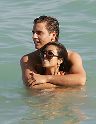 U.S reality TV star and the eldest Kardashian sister Kourtney, 28, chilled out with her boyfriend Scott Disick during a New Year break in Miami's South Beach, FL, USA, on December 31, 2007. Photo by Charles Guerin/ABACAPRESS.COM  | 140995_07