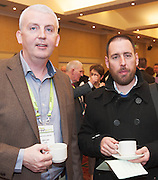 20/11/2014  repro free Declan Kelly APEX fire and Declan Belton Belton & Assoc Accountants at the Galway Bay Hotel for the two day conference Meet West attracting over 400 business people from around Ireland for the largest networking event in the Country . Photo:Andrew Downes