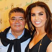 NLD/Amsterdam/20120424 - Lancering juwelenlijn Wishes by Rossana Kluivert-Lima, Rossana Kluivert-Lima met haar vader Jorge