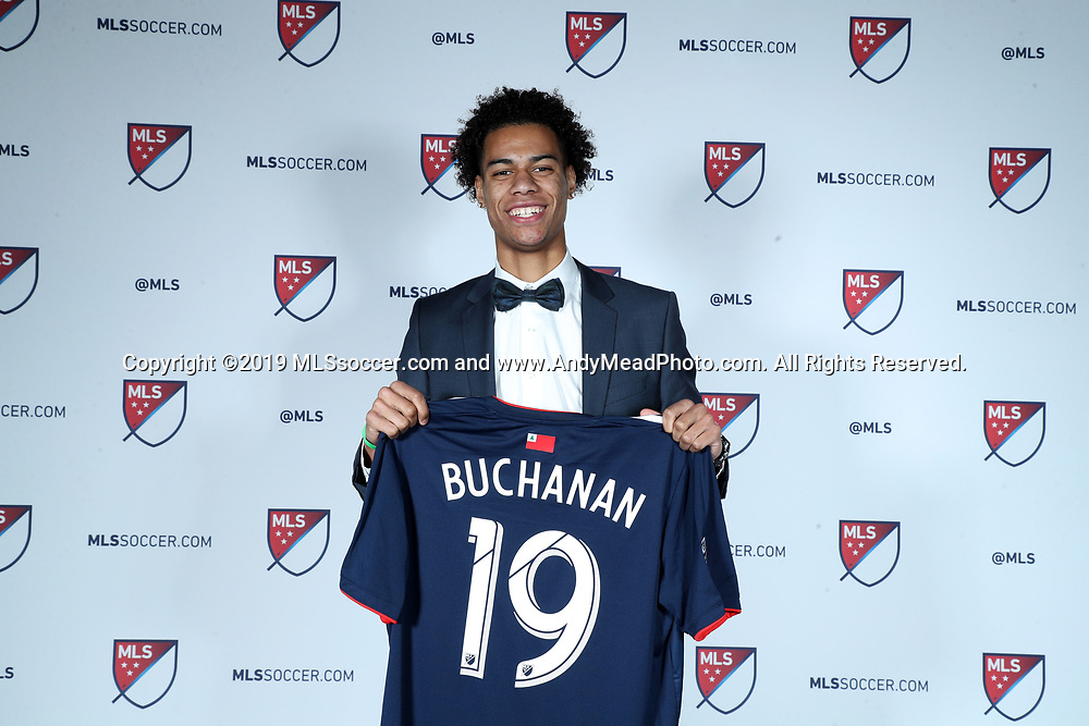 CHICAGO, IL - JANUARY 11: Tajon Buchanan was taken with the ninth overall pick by the New England Revolution. The MLS SuperDraft 2019 presented by adidas was held on January 11, 2019 at McCormick Place in Chicago, IL.