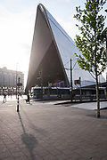 The Rotterdam Central Station where trains, buses and metro comes together.