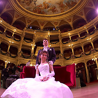 0802020496c Dress rehearsal of the 13th Budapest Opera Ball held at Opera House involving 50 couples of debutantes performing the opening waltz. Budapest, Hungary. Saturday, 02. February 2008. ATTILA VOLGYI