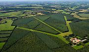 Nederland, Drenthe, Gemeente  Aa en Hunze, 27-08-2013; De Schipborg, oorspronkelijk modelboerderij (ontwerp van architect Berlage). <br /> De voormalige boerderij is nu 'buitenplaats', de landbouw vervangen door bosbouw.<br /> The Schipborg originally model farm (design architect Berlage).<br /> The former farmhouse is now a country seat, and farming has been replaced by forestry.<br /> luchtfoto (toeslag op standaard tarieven);<br /> aerial photo (additional fee required);<br /> copyright foto/photo Siebe Swart.