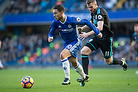 Football - 2016 / 2017 Premier League - Chelsea vs. West Bromwich Albion<br /> <br /> Eden Hazard of Chelsea being chased by Chris Brunt of West Bromwich Albion at Stamford Bridge.<br /> <br /> COLORSPORT/DANIEL BEARHAM