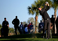 Feb 26, 2016; Palm Beach Gardens, FL, USA; Sergio Garcia plays from the rough on the 12th hole during the second round of the Honda Classic at PGA National. Mandatory Credit: Peter Casey-USA TODAY Sports