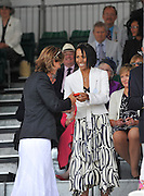 Henley, GREAT BRITAIN. Dame Kelly HOLMES, prize giver at  2010 Henley Royal Regatta. presents to left, Katherine GRAINGER.16:52:49, Sunday  04/07/2010 [Mandatory Credit: Peter Spurrier / Intersport-images] Rowing Courses, Henley Reach, Henley, ENGLAND . HRR.