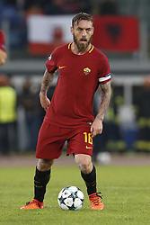 October 31, 2017 - Rome, Italy - Rome, Italy - 31/10/2017..Daniele De Rossi of Roma during their UEFA Champions League Group C soccer match against Chelsea at the Olympic stadium in Rome..UEFA Champions League Group C soccer match between AS Roma and Chelsea FC at the Olympic stadium in Rome. AS Roma defeating Chelsea FC 3-0. (Credit Image: © Giampiero Sposito/Pacific Press via ZUMA Wire)