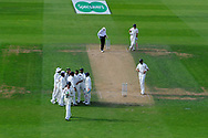 Wicket - Mohammed Shami of India celebrates taking the wicket of Keaton Jennings of England during day 3 of the 5th test match of the International Test Match 2018 match between England and India at the Oval, London, United Kingdom on 9 September 2018.