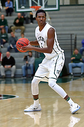 07 December 2016:  Jaylen Beasley during an NCAA men's division 3 CCIW basketball game between the North Park Vikings and the Illinois Wesleyan Titans in Shirk Center, Bloomington IL