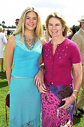 Left to right, MISS ISABELLA ANSTRUTHER-GOUGH-CALTHORPE once romantically linked to Prince William, and her mother LADY MARY-GAYE SHAW, at a polo match in Berkshire on 30th July 2000.OGN 140