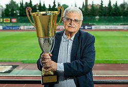 Darko Klaric during celebration of NK Bravo, winning team in 2nd Slovenian Football League in season 2018/19 after they qualified to Prva Liga, on May 26th, 2019, in Stadium ZAK, Ljubljana, Slovenia. Photo by Vid Ponikvar / Sportida