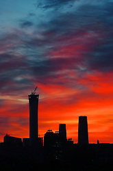 January 1, 2018 - Beijin, Beijin, China - Beijing, CHINA-1st January 2018:(EDITORIAL USE ONLY. CHINA OUT) ..CITIC Tower is a supertall skyscraper under construction in the Central Business District of Beijing, capital of China. It is affectionately known as China Zun. The 108-storey, 528 m (1,732 ft) building will be the tallest in the city, surpassing that of the China World Trade Center Tower III by 190 metres.On August 18, 2016, CITIC Tower surpassed China World Trade Center Tower III in height, becoming Beijing's tallest building.The tower structurally topped out on July 9, 2017, and fully topped out on August 18, 2017, the completion date is set to be in 2018. (Credit Image: © SIPA Asia via ZUMA Wire)