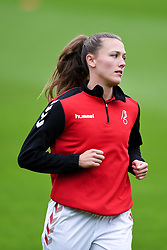 Charlie Wellings of Bristol City Women warms up prior to kick off - Mandatory by-line: Ryan Hiscott/JMP - 18/10/2020 - FOOTBALL - Twerton Park - Bath, England - Bristol City Women v Birmingham City Women - Barclays FA Women's Super League