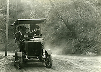 1918 Stanley Steamer taking guests up Laurel Canyon to the Bungalow Inn