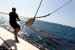 Onboard Firefly during the Super Yacht Cup, Palma de Mallorca, June 24th 2011 © Sander van der Borch