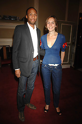 CONRAD & LARISSA PERSONS she is the daughter of Michael Howard at a party to celebrate the publication of Sandra Howard's book 'Ursula's Stor' held at The British Academy, 10 Carlton House Terace, London on 4th September 2007.<br />