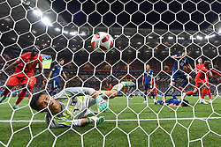 July 2, 2018 - ROSTOV-ON-DON, Russia -  Goalkeeper EIJI KAWASHIMA (front) of Japan misses a goal of Belgium's Marouane Fellaini (1st R) during the 2018 FIFA World Cup round of 16 match between Belgium and Japan in Rostov-on-Don, Russia. Belgium won 3-2 and advanced to the quarter-final. (Credit Image: © Liu Dawei/Xinhua via ZUMA Wire)