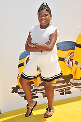 """Trinitee Stokes arrives at the """"Despicable Me 3"""" Los Angeles Premiere held at the Shrine Auditorium in Los Angeles, CA on Saturday, June 24, 2017.  (Photo By Sthanlee B. Mirador) *** Please Use Credit from Credit Field ***"""