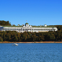 """""""Grand Hotel Mackinac Island""""<br /> <br /> The beautiful and historic Grand Hotel on Mackinac Island, Michigan as viewed from the straits of Mackinac!"""