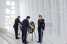 Hawaii - President Obama And Prime Minister Abe Visit To Pearl Harbour - 27 Dec 2016