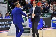 Gennaro Di Carlo - Federico Pasquini<br /> Dinamo Banco di Sardegna Sassari - Betaland Capo d'Orlando<br /> LegaBasket Serie A LBA Poste Mobile 2017/2018<br /> Sassari 12/11/2017<br /> Foto Ciamillo-Castoria
